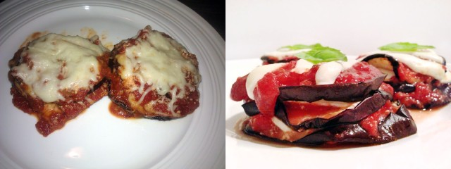 eggplant parm before and after